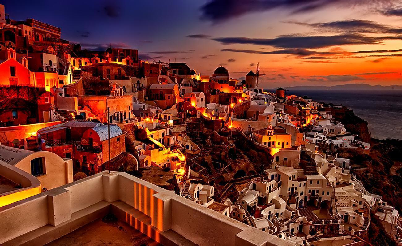 45 Santorini Sunset Wallpapers   Download at WallpaperBro 1300x795