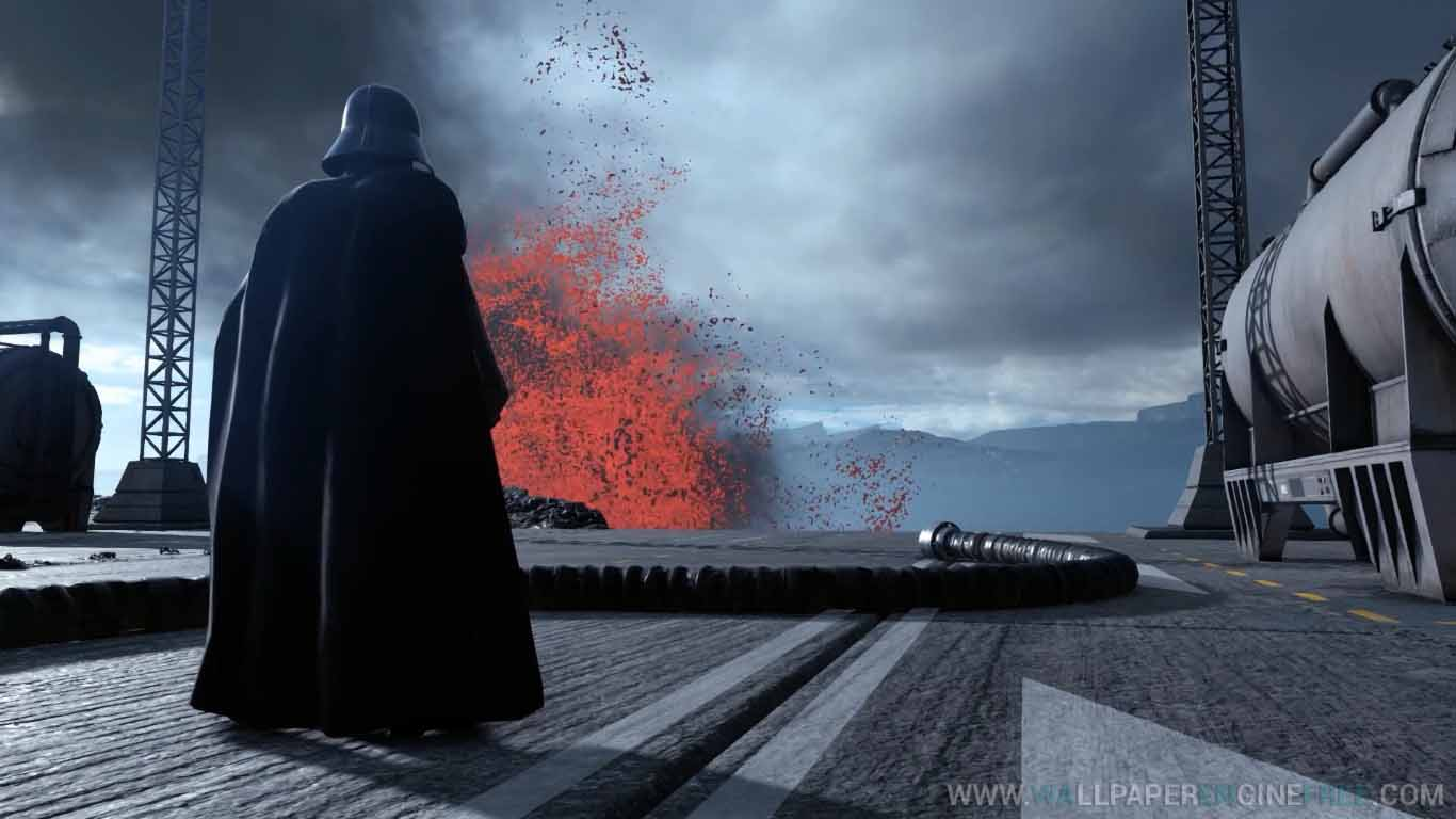 Download Star Wars Battlefront Darth Vader Sullust Lava Wallpaper 1366x768