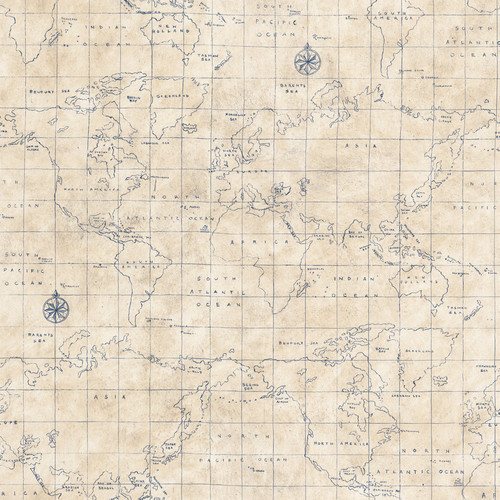 Ralph Lauren Nautical Map Wallpaper Fall Project Idea Add Coastal To Your Home Sally Lee By 500x500