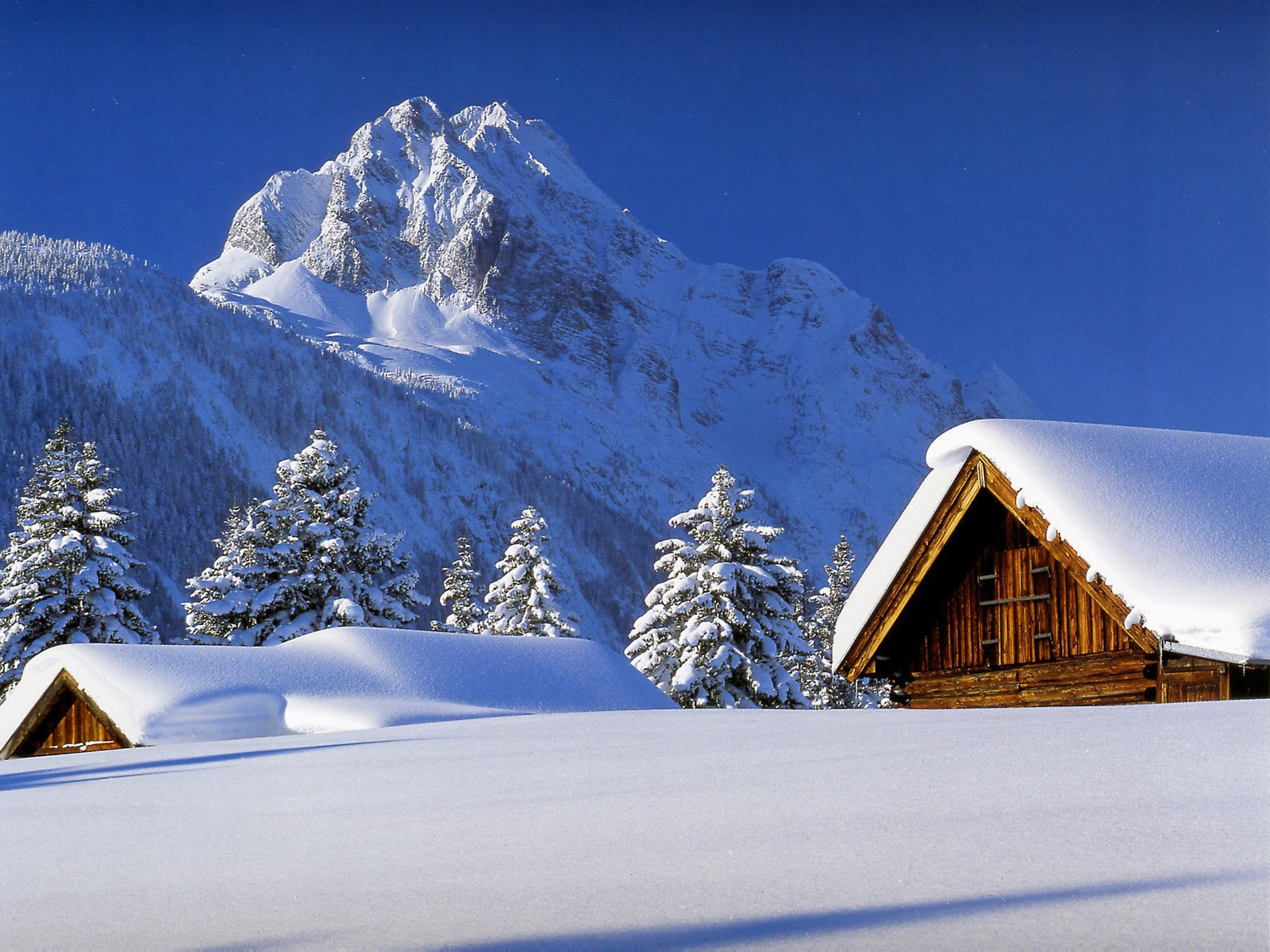 Winter Cabin cool wallpaperswidescreen wallpapers Hochauflsende 1600x1200