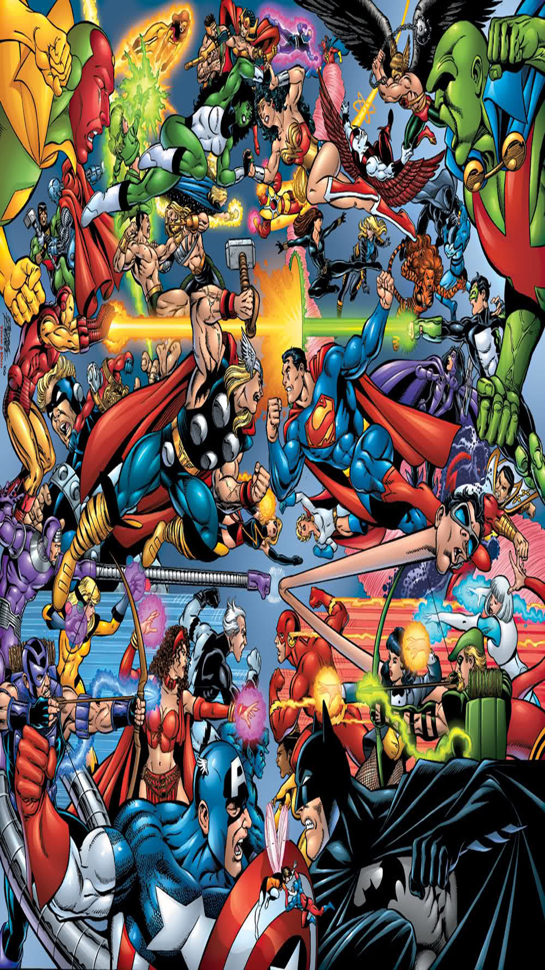 Marvel Phone Wallpaper   Dc Vs Marvel Wallpaper Android 133261 1080x1920