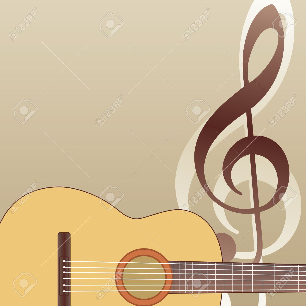 Guitar Background With Guitar And Violin G Key Royalty 1300x1298