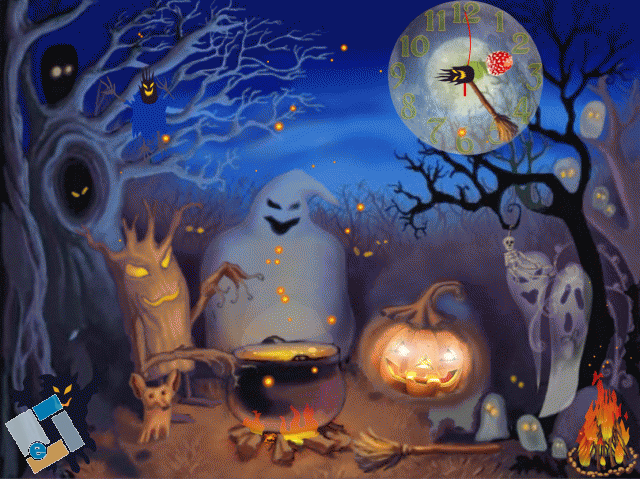 Halloween Live Animated Wallpaper Screensaver image   Screensaver 640x479