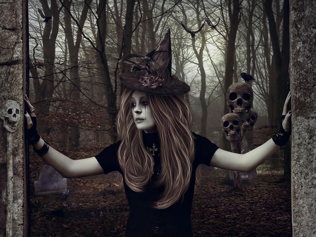 Halloween Wallpaper Evil Witch Wallpaper 1024x769