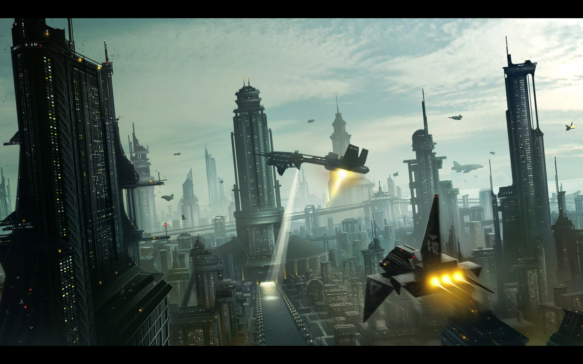 cityscapes futuristic wallpaper 1900x1041 - photo #26