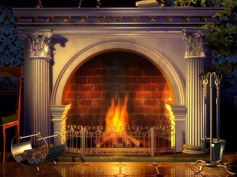 Christmas Fireplace Picture   Wallpaper Aleals Wallpaper Desktop HD 800x600