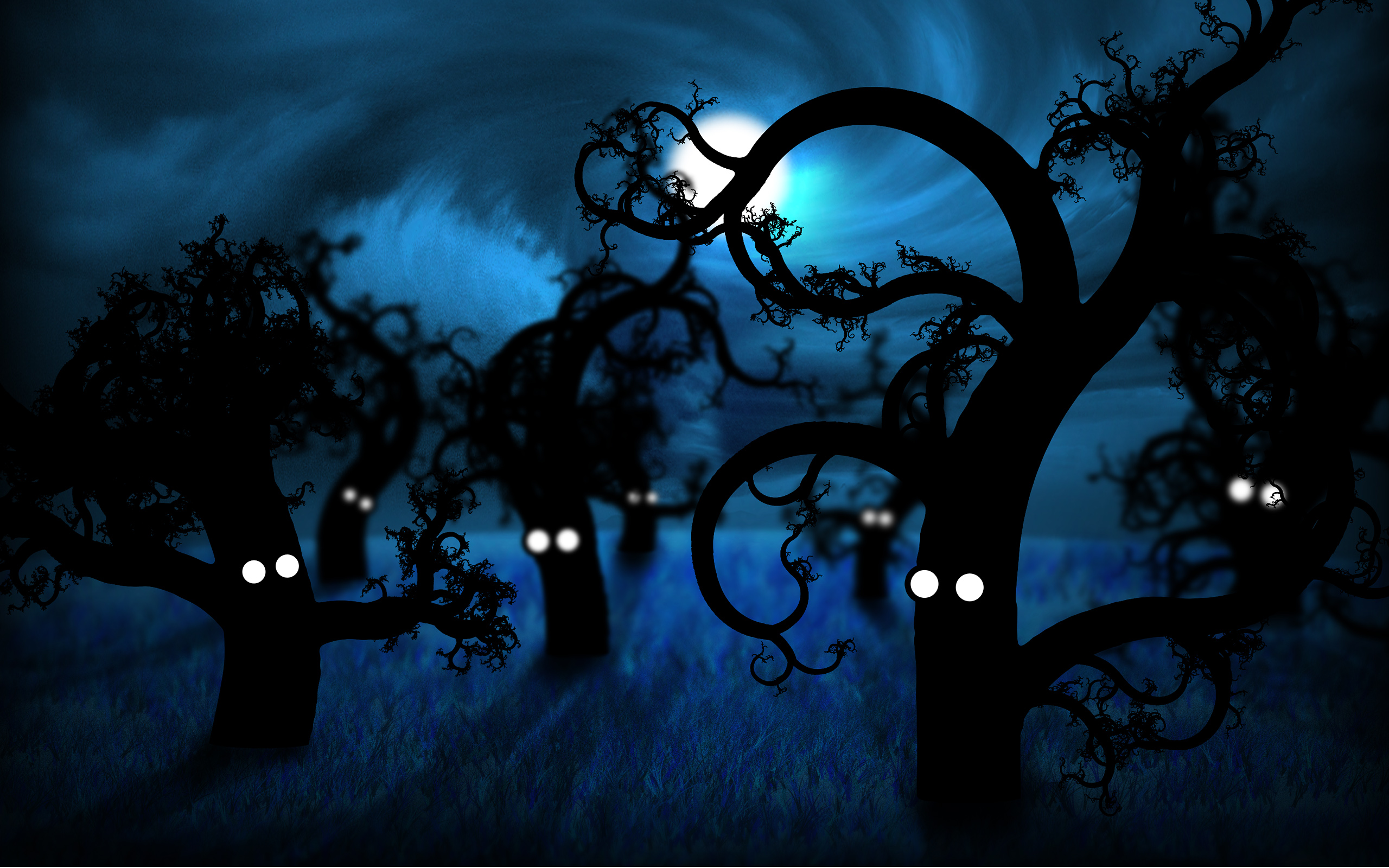 Forest Midnight Wallpapers HD Wallpapers 2560x1600