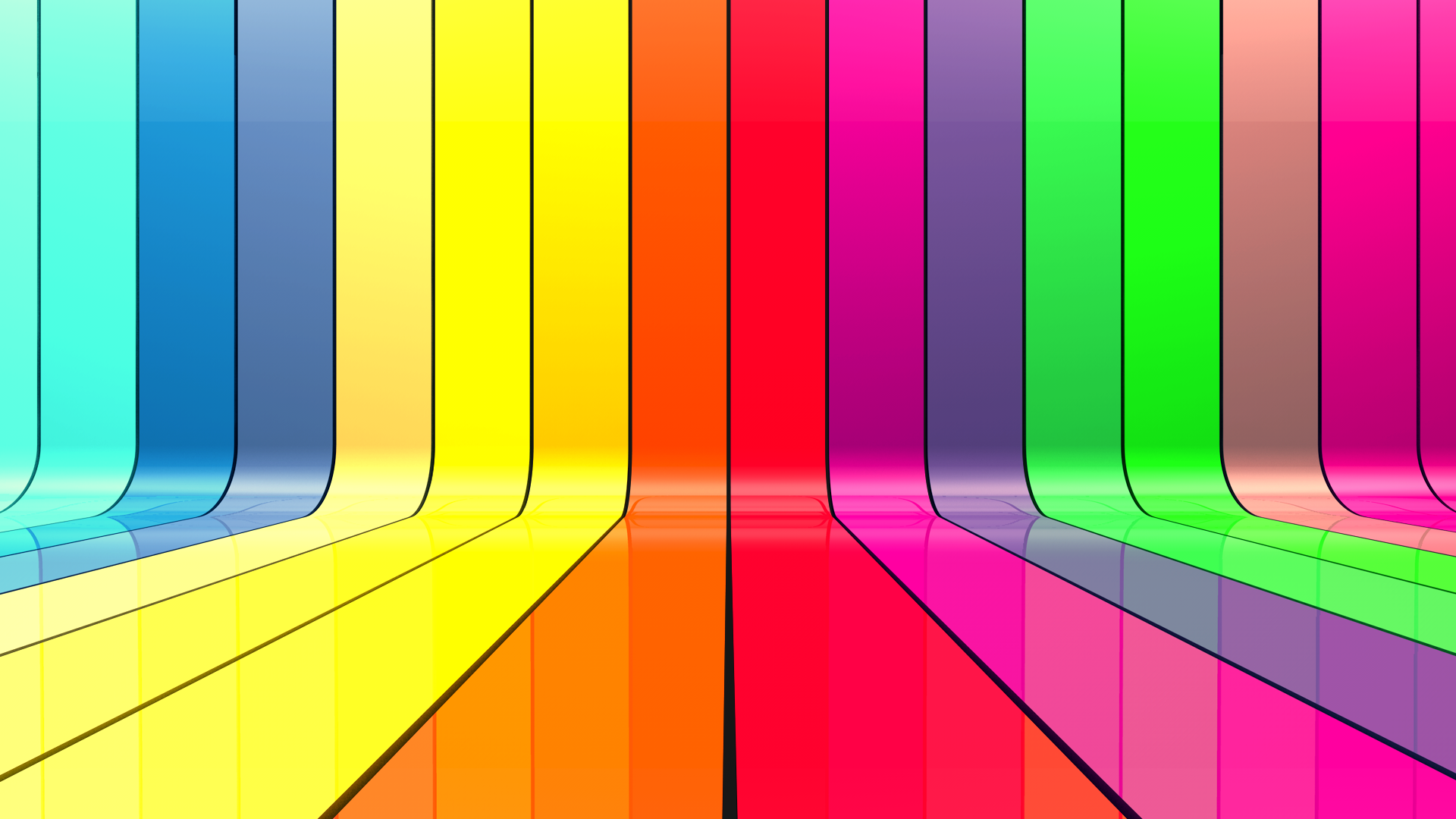 Red pink green yellow blue violet orange stripes background pictures 1920x1080