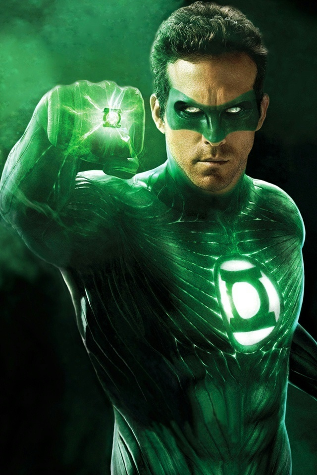 Ryan Reynolds Green Lantern iPhone 4 Wallpaper and iPhone 4S Wallpaper 640x960