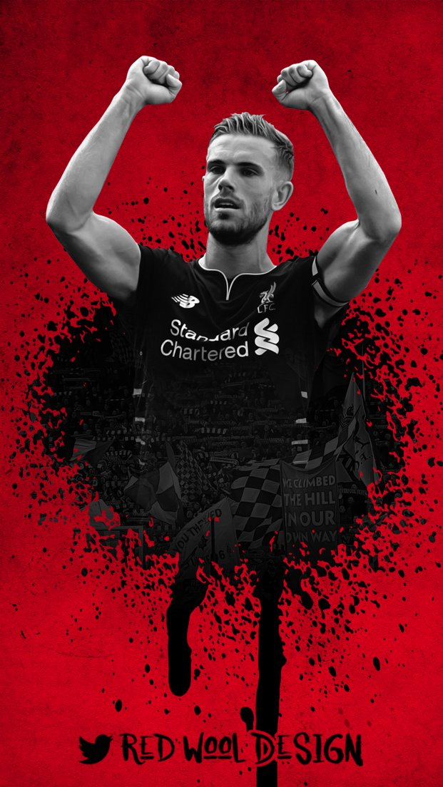 Red Wool Design on Twitter Jordan Henderson phone 621x1104