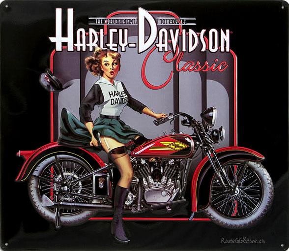 Davidson amp Motorrad Werbung Harley Davidson Classic Pin Up Girl 588x510