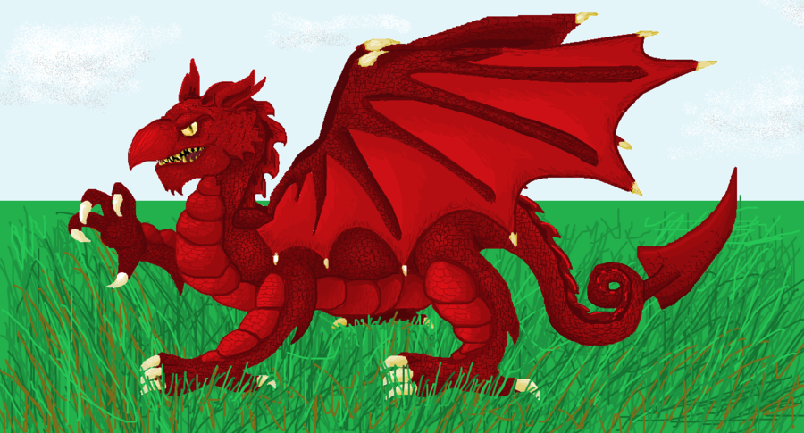 Welsh Flag Wallpaper Welsh flag detail by 900x485