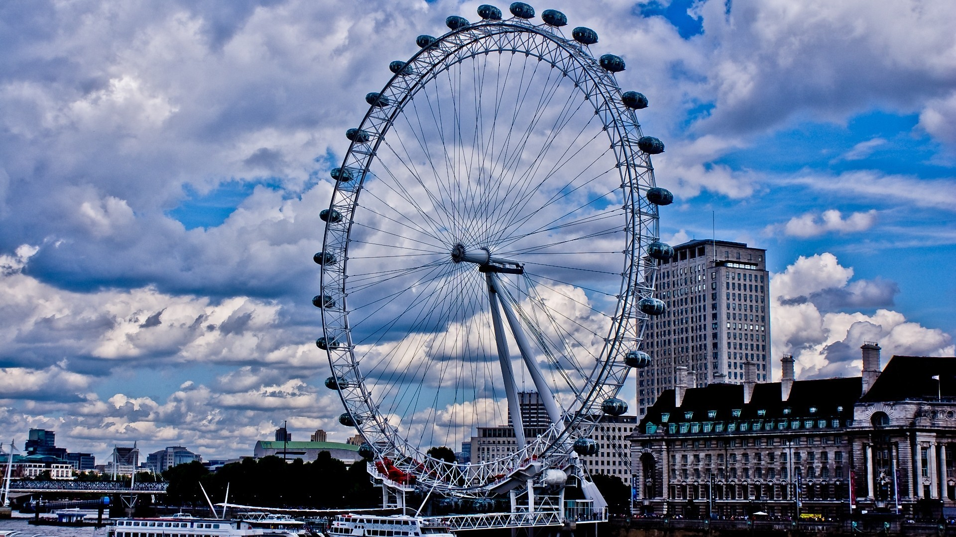 England London Eye United Kingdom Wallpaper   MixHD wallpapers 1920x1080
