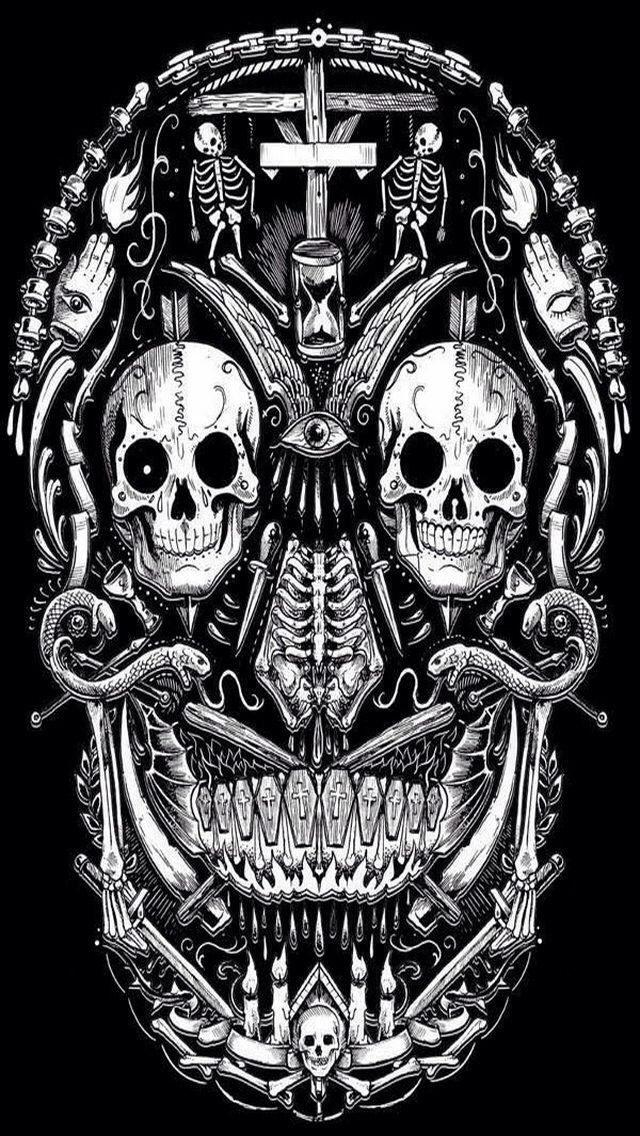SKULL IPHONE WALLPAPER BACKGROUND IPhone Wallpapers Pinterest 640x1136