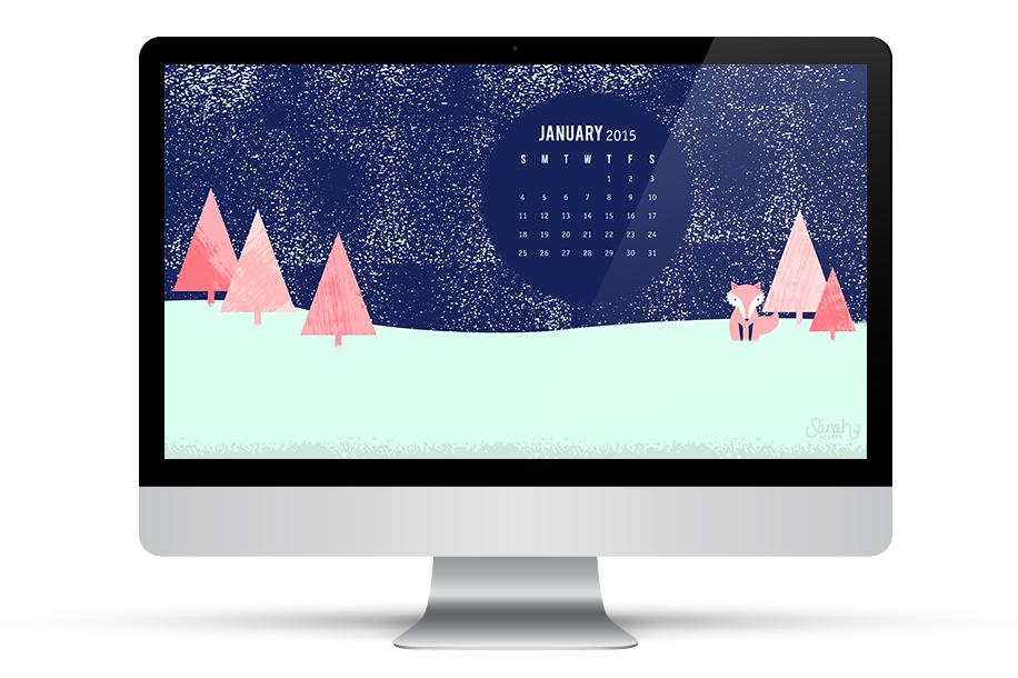 Sarah Hearts   January 2015 Calendar Wallpaper 916x610