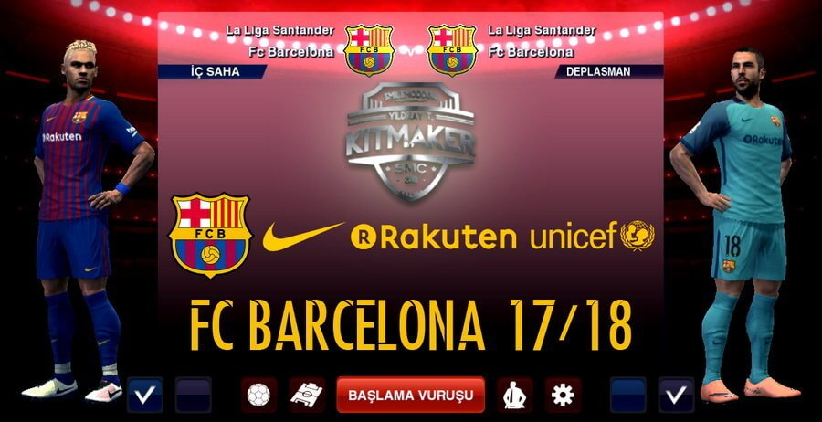 Free download Barcelona Leaked Kit 2017 2018 PES 2013 PATCH