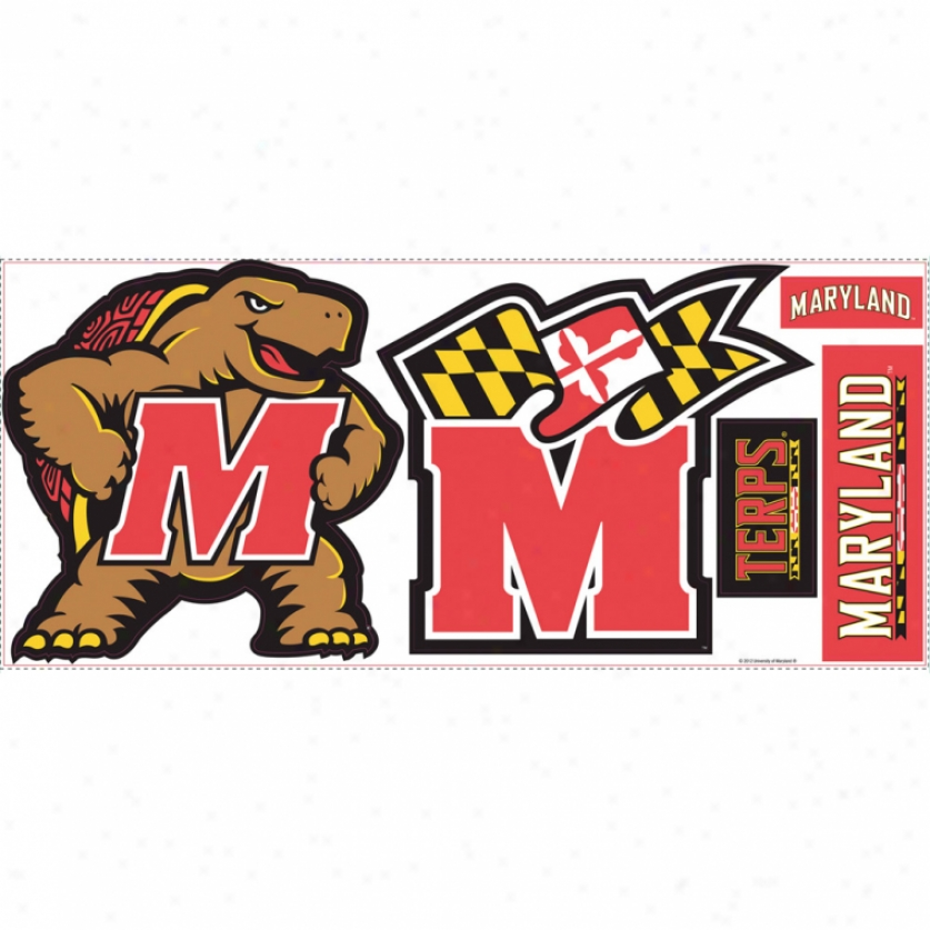 University Of Maryland Giant Wall Decals 837x837
