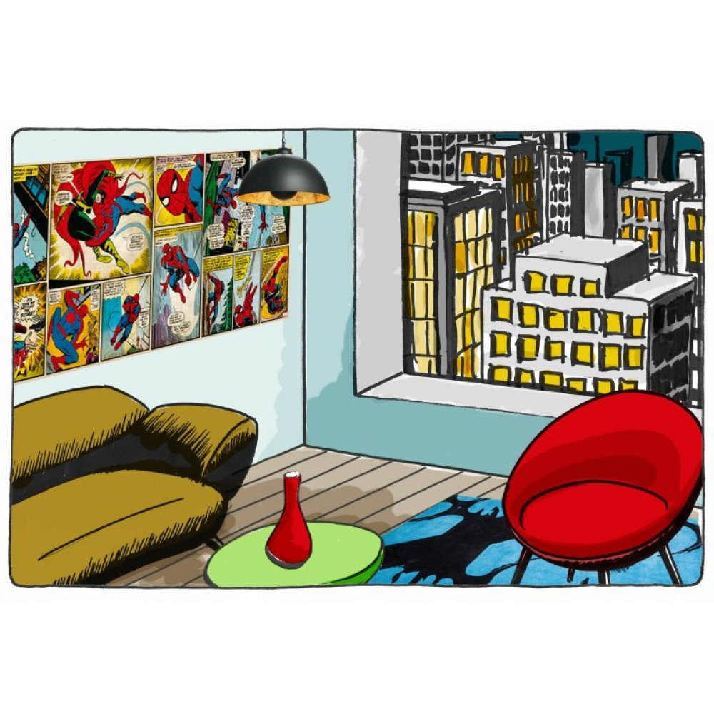 Spiderman Comics Wallpaper Great Kidsbedrooms the children bedroom 1000x1000
