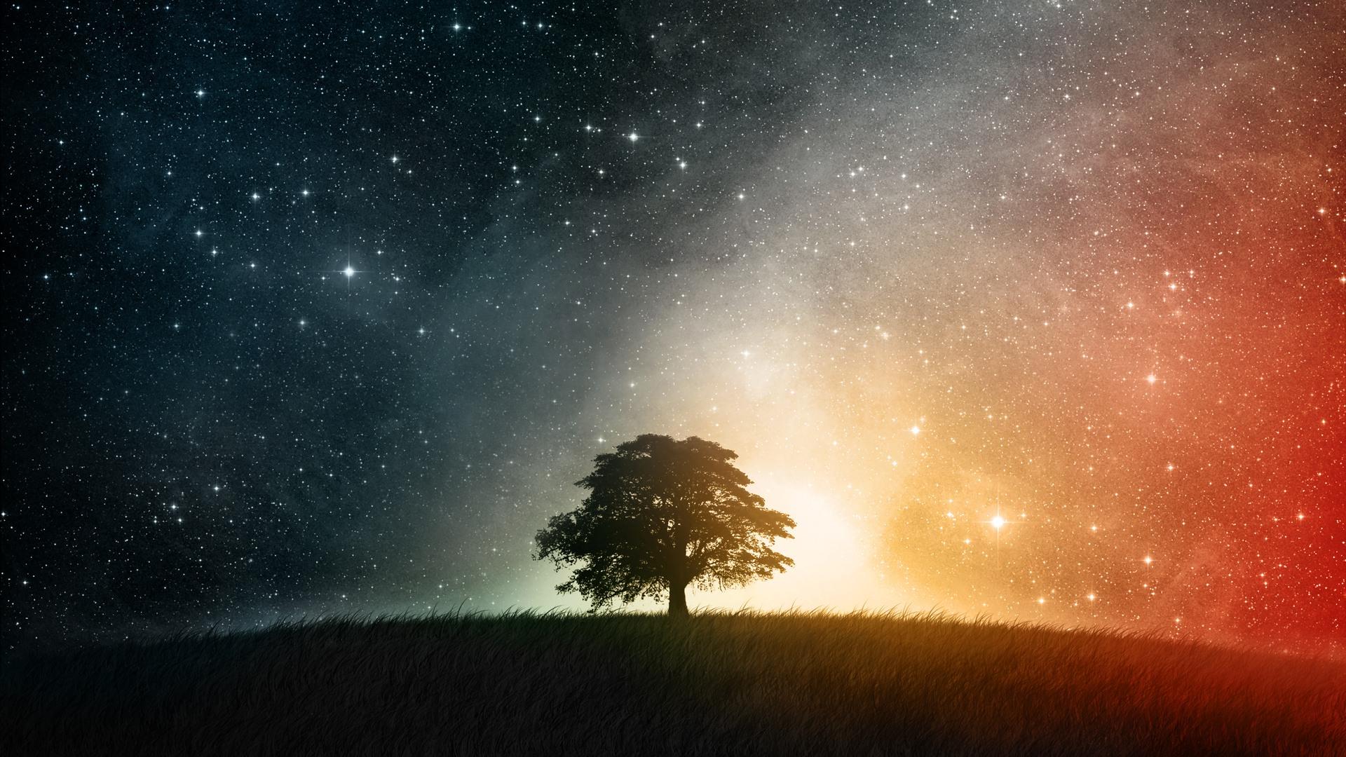 Galaxy on the Horizon desktop wallpaper 1920x1080