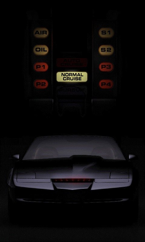 Black Trans Am Knight Rider Live Wallpaper android live wallpaper 480x800