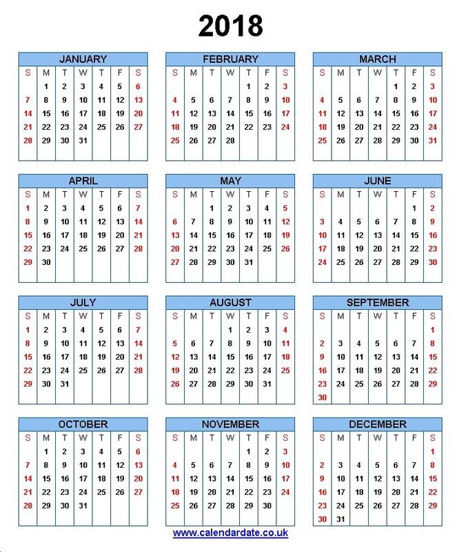 Calendar For 2018   Latest Calendar 663x800