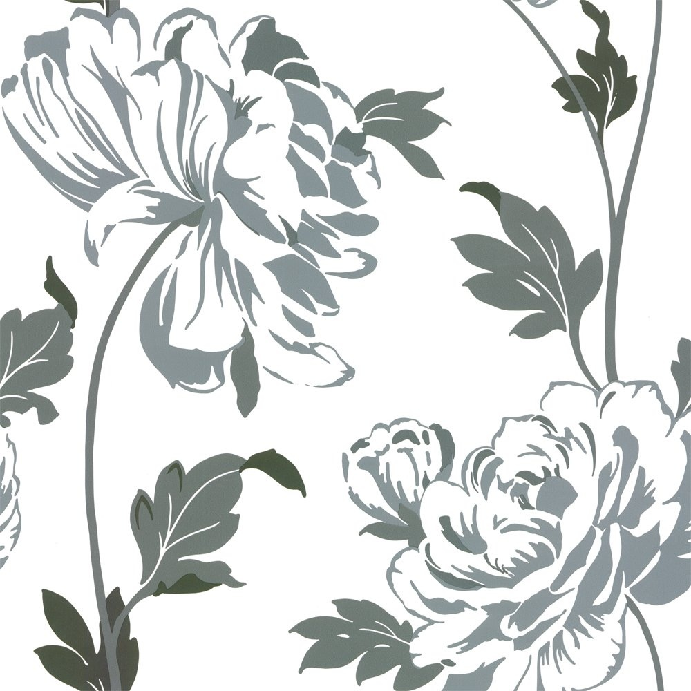 Beautiful grey and white flower wallpaper frieze wedding and fancy grey and white flower wallpaper ensign images for wedding mightylinksfo