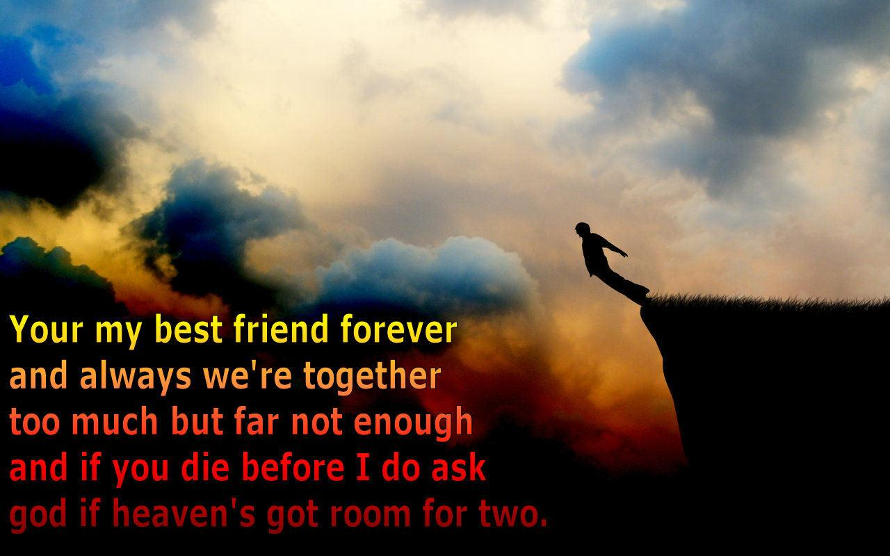 Friendship Wallpapers With Quotes WallpaperSafari