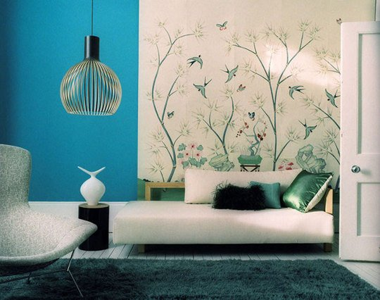 Bird wallpaper by Emma Thomas Image from Apartment Therapy 540x426