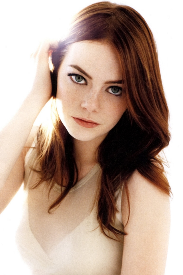 Emma stone   Download iPhoneiPod TouchAndroid Wallpapers 640x960