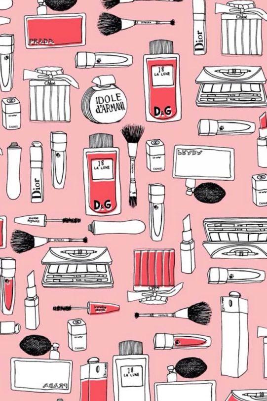 Group Of Makeup Desktop Wallpaper Pinterest