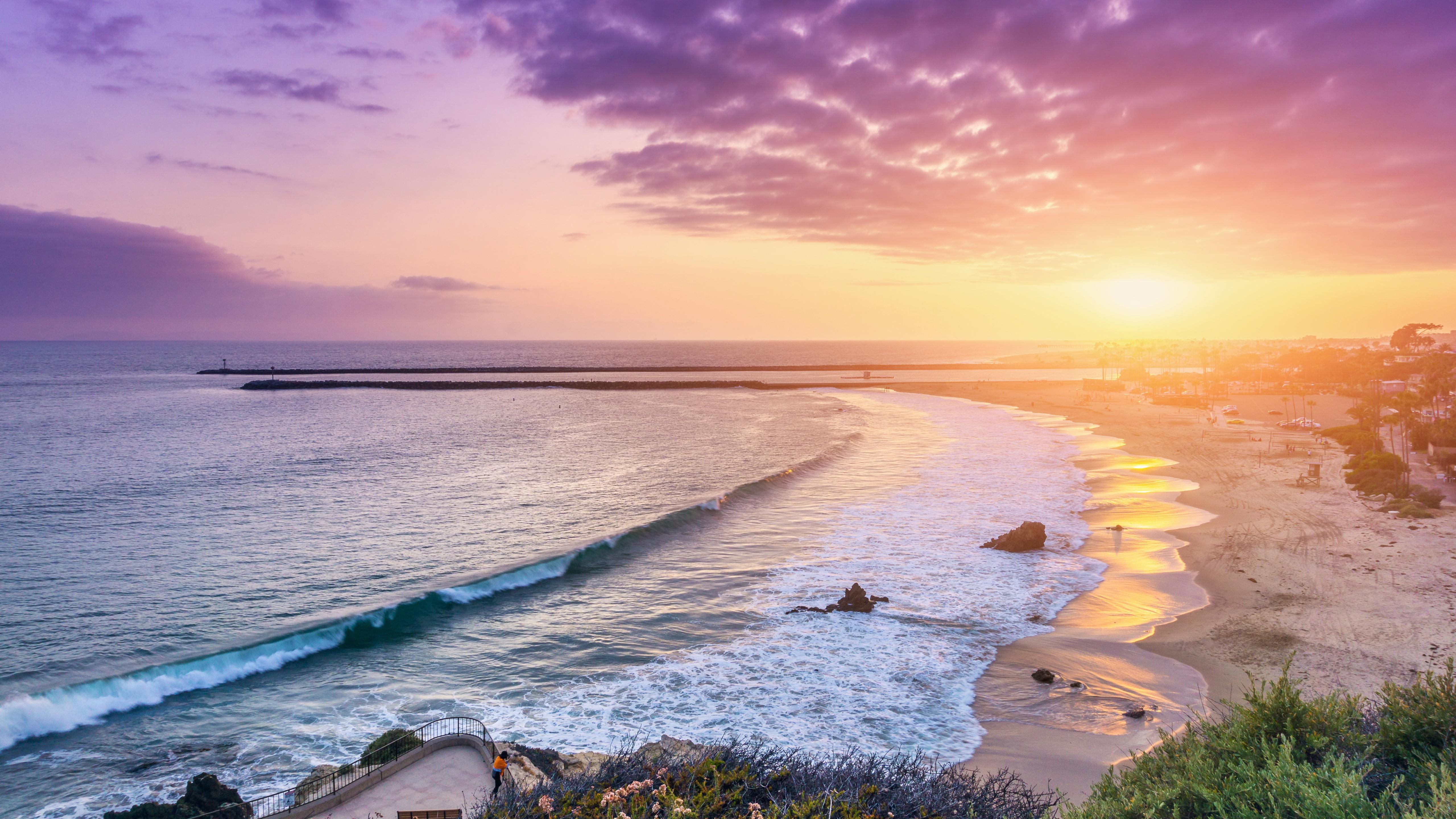 Corona del Mar Newport Beach 5k Retina Ultra HD Wallpaper 5120x2880