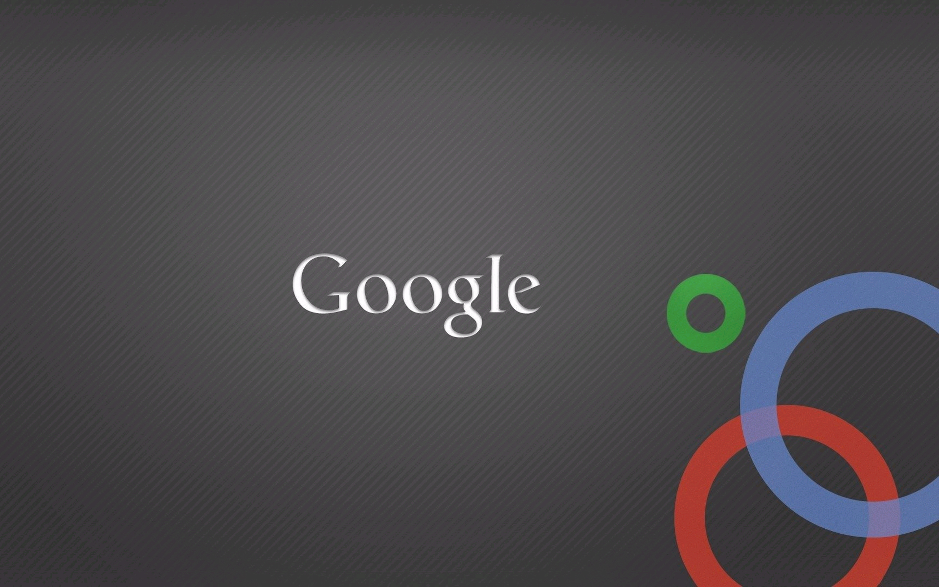 White Google and Three Colorful Circles Background is Grey Clean and 1920x1200