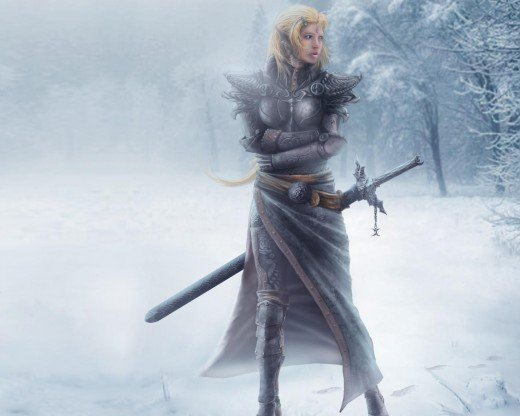 Female Elf Fantasy Wallpapers 520x416