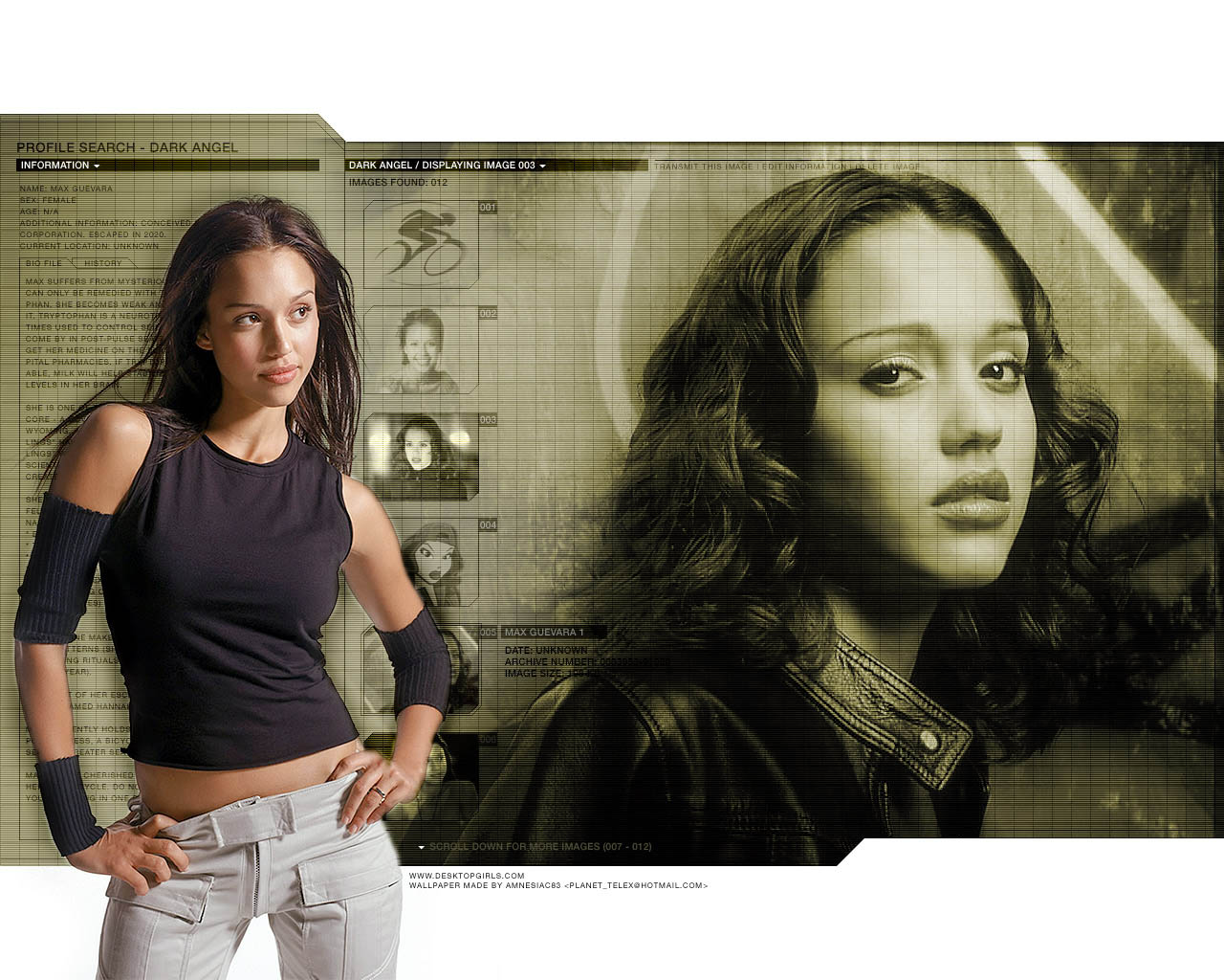 Jessica Alba Dark Angel wallpapers   W3 Directory Wallpapers 1280x1024