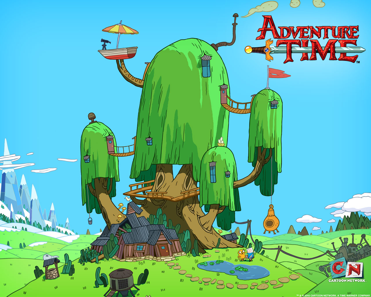 Treehouse of Fun Finn and Jakes house 1280x1024