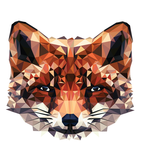 FunMozar Interesting Geometric Animal Wallpaper 535x601