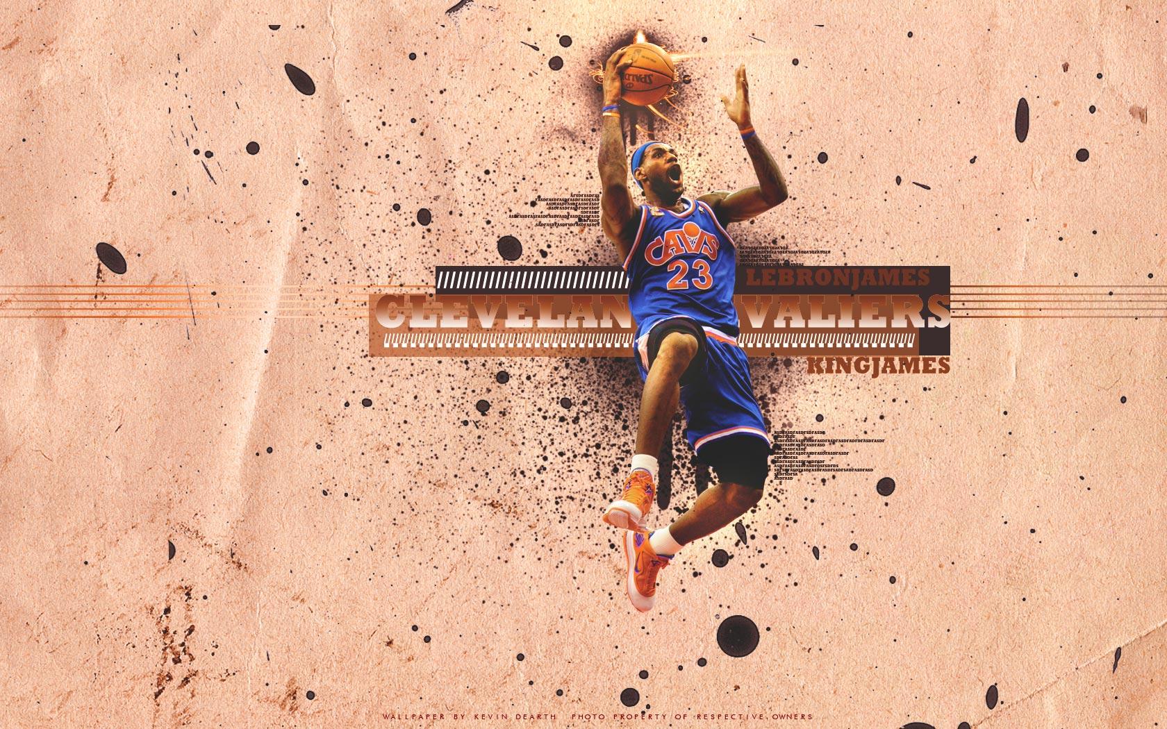 LeBron James Unstoppable Dunk Widescreen Wallpaper Basketball 1680x1050