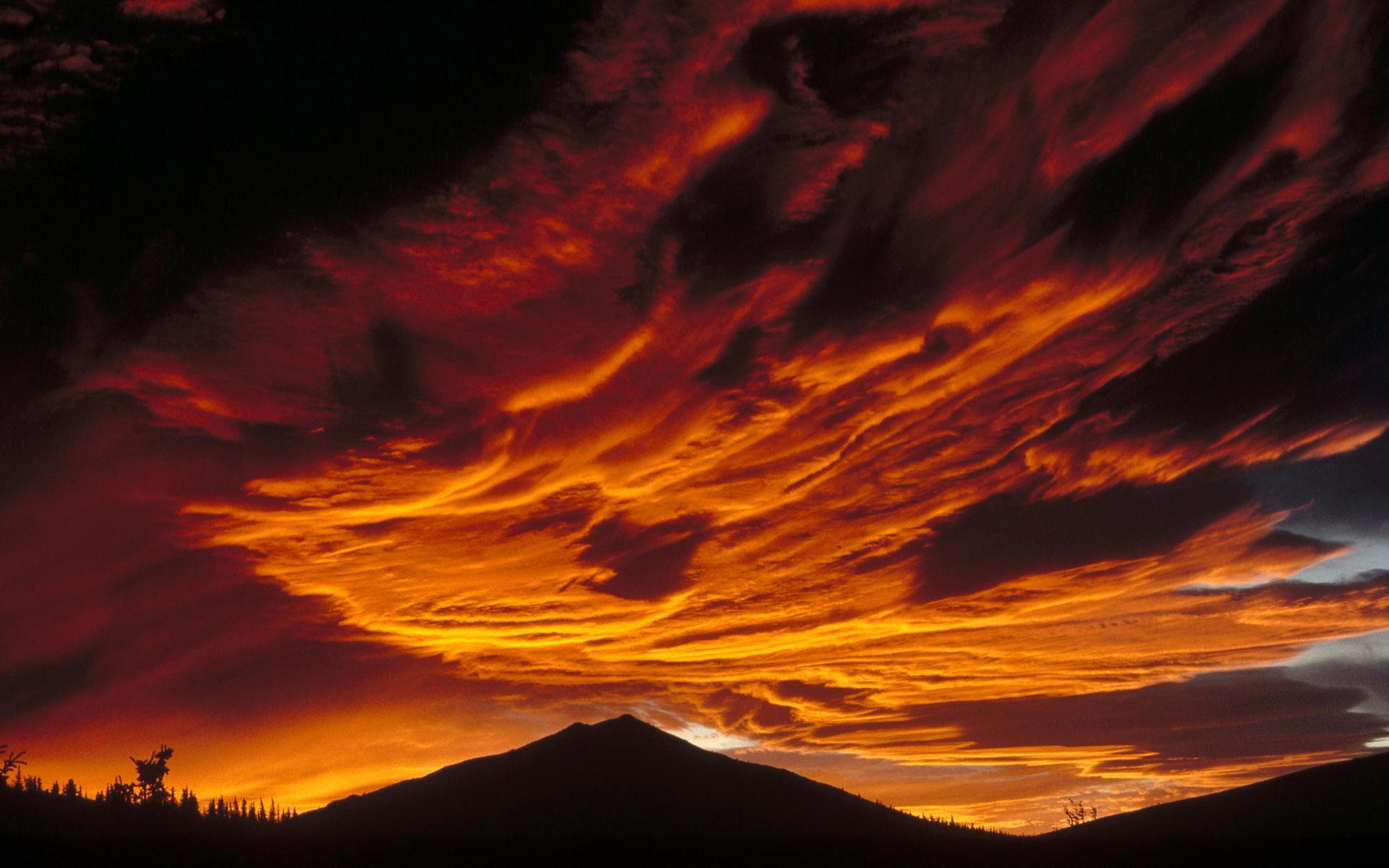 Alaska Sunset Orange Sky Hd Wallpaper Wallpaper List 1920x1200