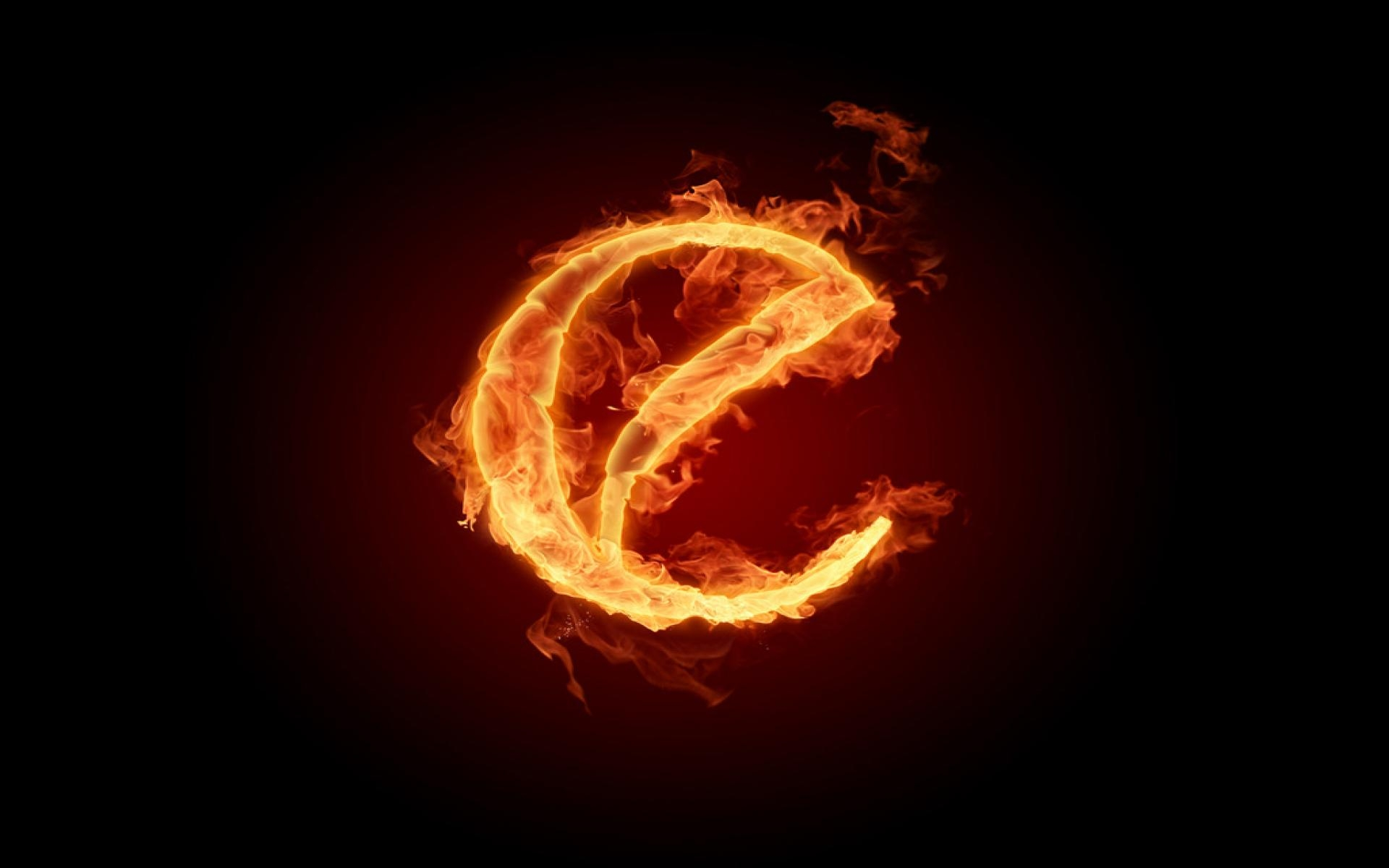 Hd Burning Fire Letter O Backgrounds Wallpapers 1920x1200