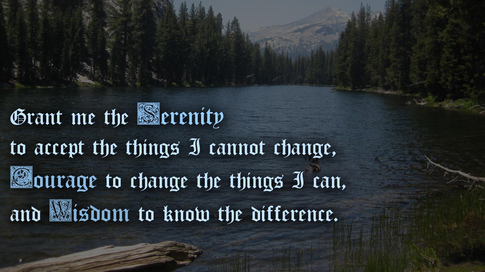 Serenity Prayer Backgrounds 1920x1080