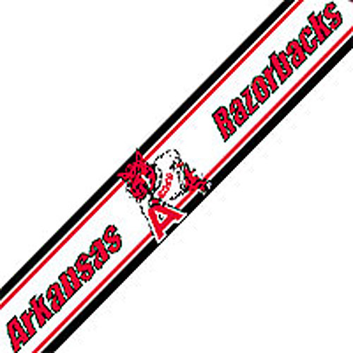 NCAA Arkansas Razorbacks Prepasted Border   College Wallpaper Border 500x500