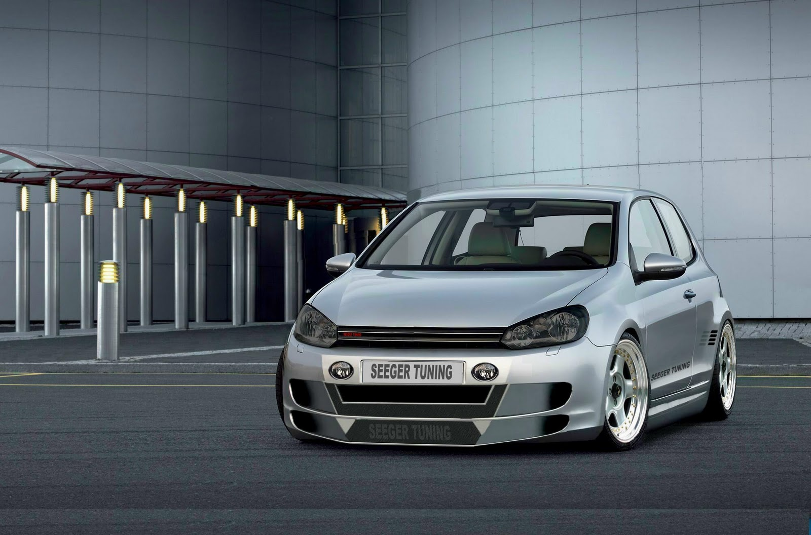 Volkswagen Golf Gti Front Tuning HD Wallpaper 1600x1056