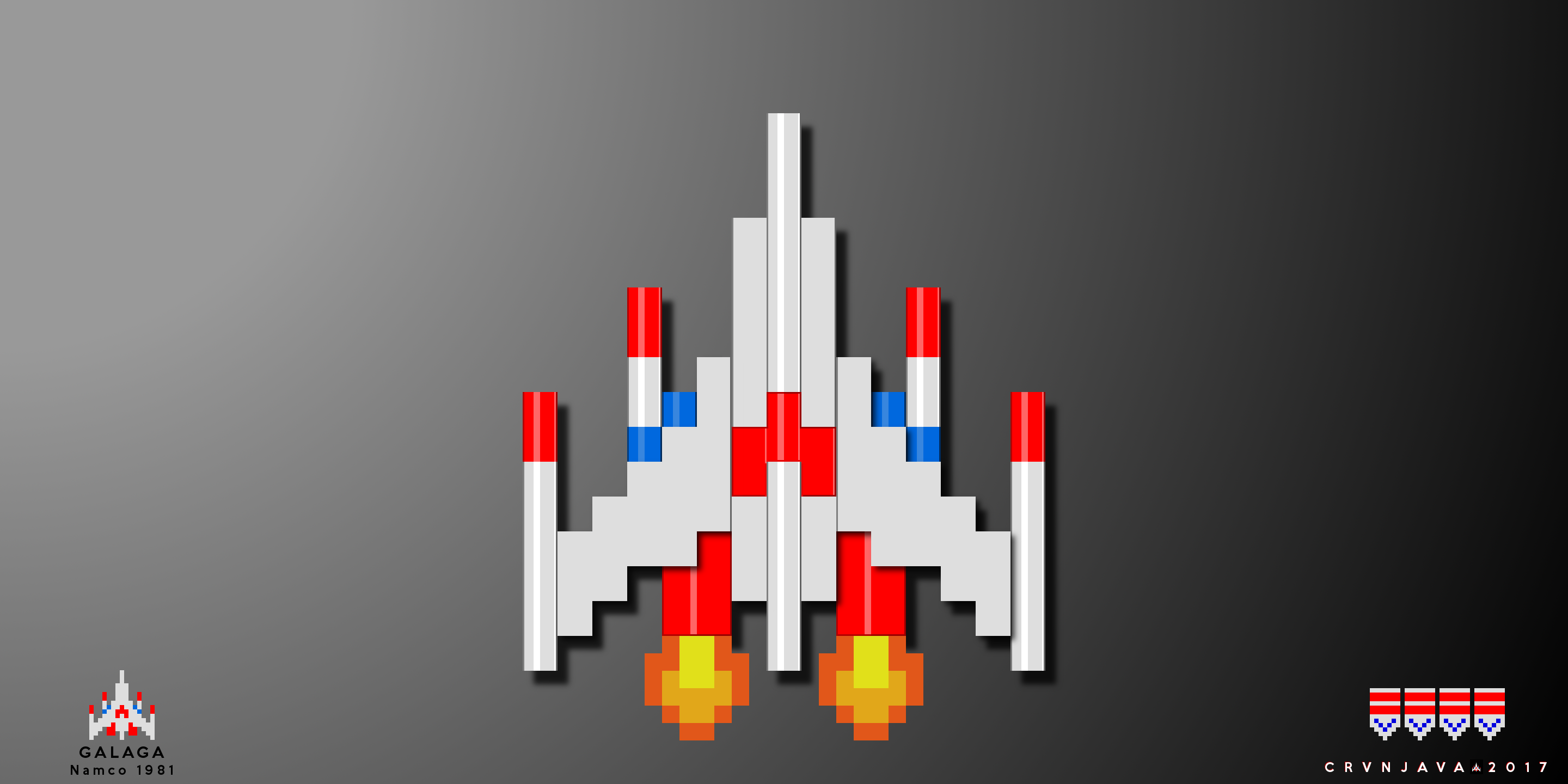 Galaga Ship Png 104 images in Collection Page 1 2880x1440