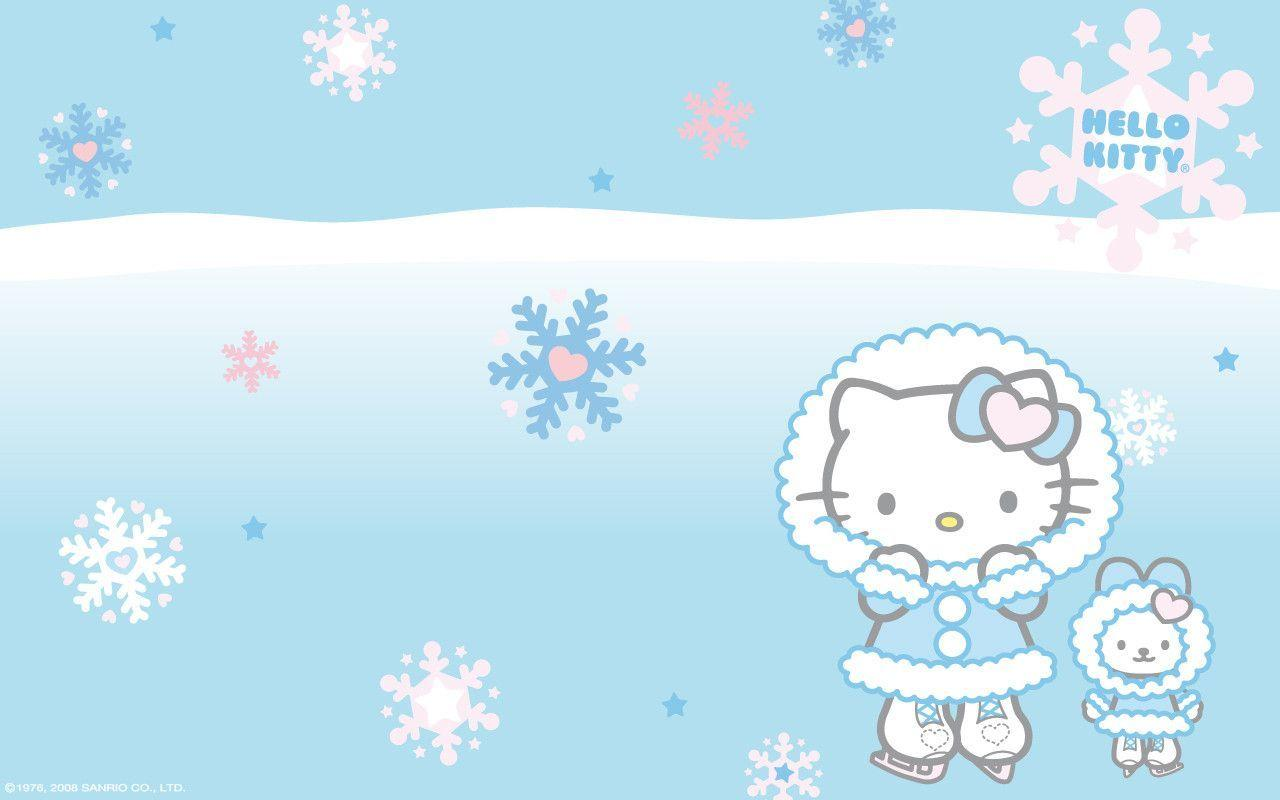 Hello Kitty Winter Wallpapers 1280x800