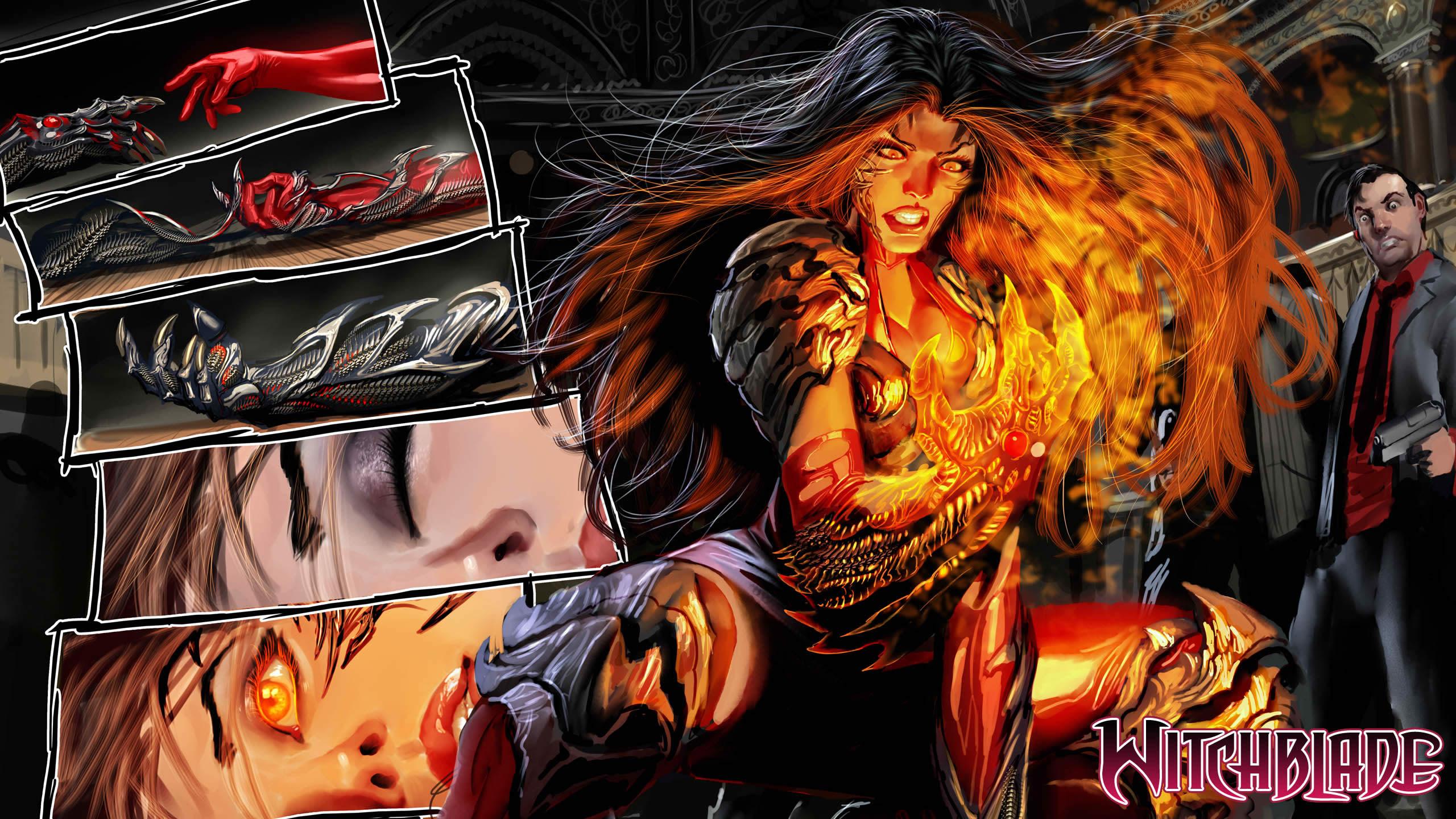 superhero magic fire warriors women sexy babes wallpaper background 2560x1440