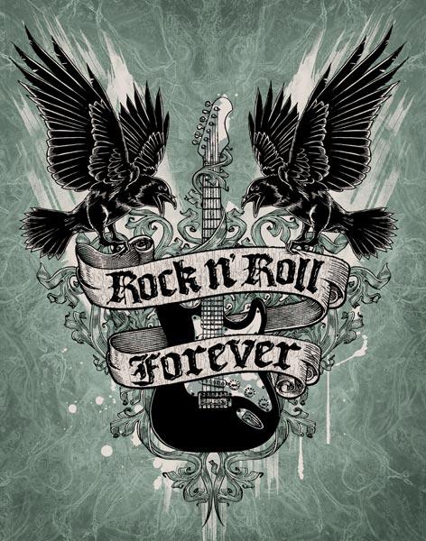 Rock n Roll Forever   Rock n Roll Will Never Die 472x600