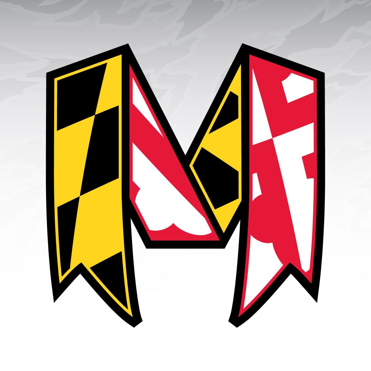 University of Maryland Logo redesign Maryland flag banner Draped in 1280x1280
