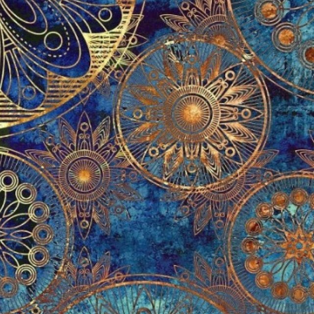 Aqua And Gold Wallpaper Wallpapersafari