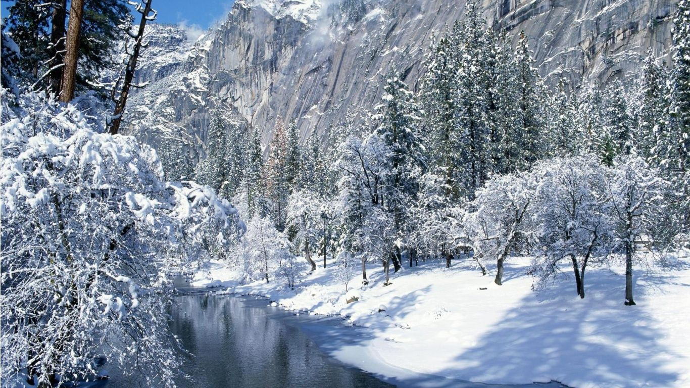 winter scene wallpaper   SF Wallpaper 1366x768