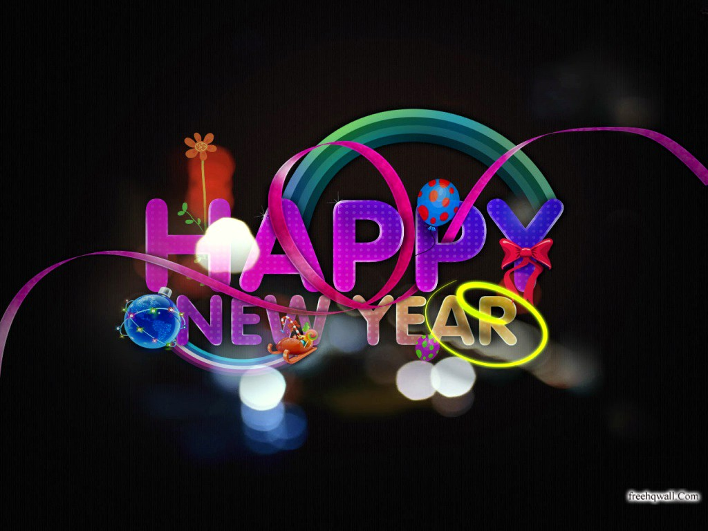 New Year 2012 high resolution wallpapers download Happy New Year 1024x768